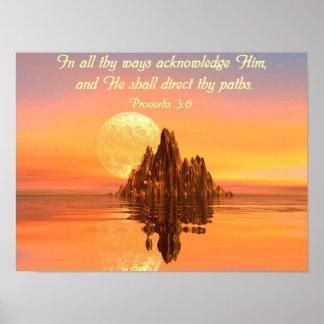 Poster del cristiano del verso de la biblia del 3: