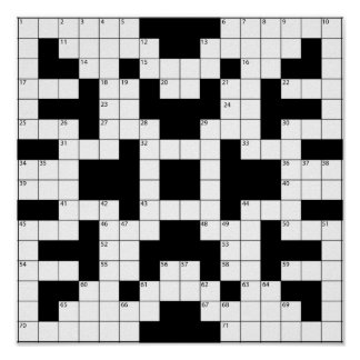 Poster del crucigrama