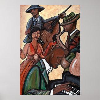 Poster del cuarteto del jazz póster