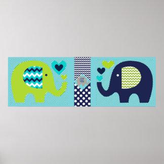 Poster del cuarto de niños de los amigos del elefa