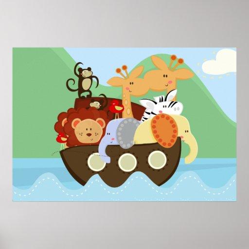 Poster del cuarto de niños del bebé de la arca de