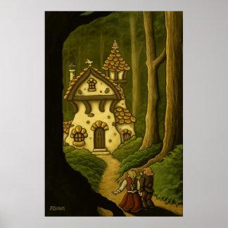 Poster del cuento de hadas de Hansel y de Gretel