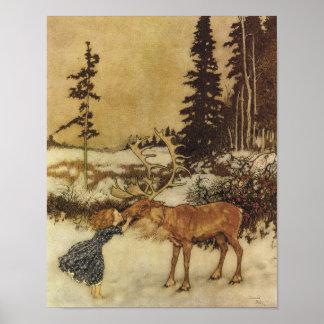 Poster del cuento de hadas de la reina de la nieve