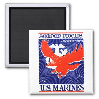 Poster del Cuerpo del Marines de WWII Iman