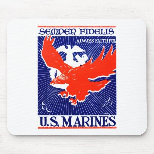 Poster del Cuerpo del Marines de WWII Mouse Pad