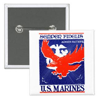 Poster del Cuerpo del Marines de WWII Pins