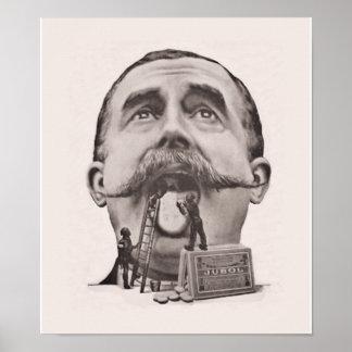 Poster del cuidado dental del vintage