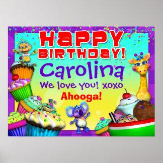 """poster del cumpleaños de la magdalena de 24x18"""" Gi"""