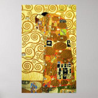 Poster del cumplimiento de Gustavo Klimt