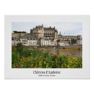 Poster del d Amboise del castillo francés