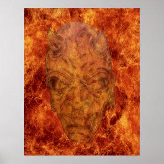 Poster del demonio del fuego