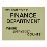 Poster del departamento de finanzas