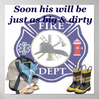 Poster del departamento del fuego de los niños