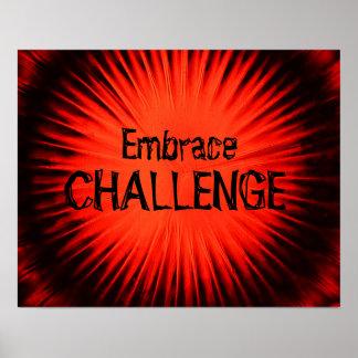 Poster del desafío del abrazo