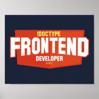 Poster del desarrollador de la parte frontal