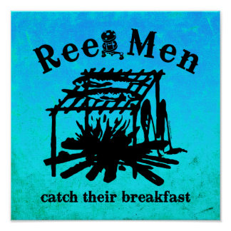 Poster del desayuno de la captura de los hombres d