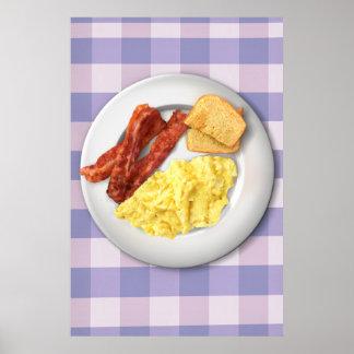 Poster del desayuno de Ron Swanson de la grandeza