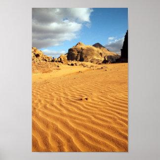 Poster del desierto del ron del lecho de un río se