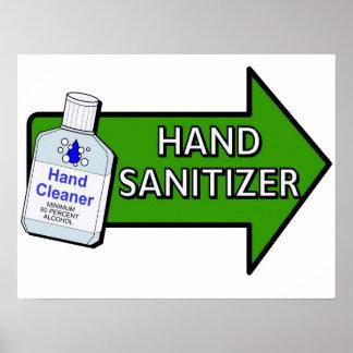 Poster del desinfectante de la mano