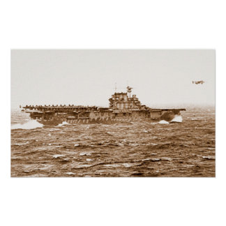 Poster del despegue de la USS Hornet B-25