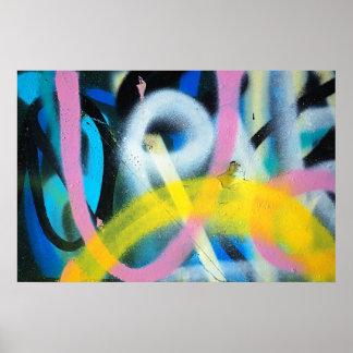 poster del detalle del fondo de la pintada