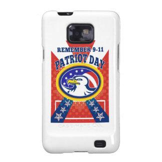 Poster del día 911 del patriota de American Eagle Samsung Galaxy SII Carcasas