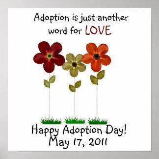 poster del día de la adopción