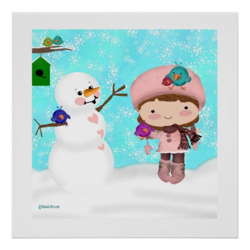 Poster del día de la nieve