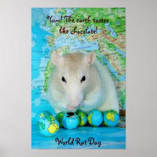 Poster del día de la rata del mundo