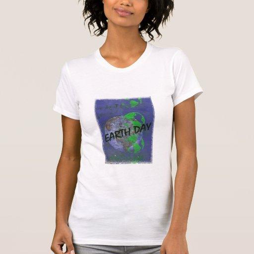 Poster del Día de la Tierra del vintage Camiseta