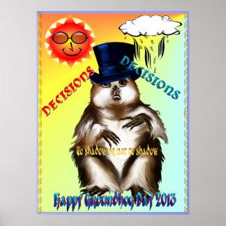 Poster del día de las Decisión-Decisiones-Groundho