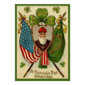 Poster del día de St Patrick del vintage