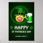 Poster del día de St Patrick feliz