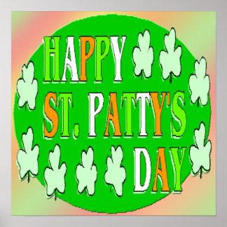 Poster del día de St Patrick feliz Póster