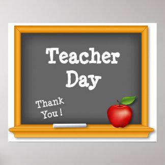 ¡Poster del día del profesor, gracias! Pizarra, Ap Póster