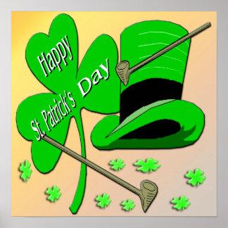 Poster del día del trébol de St Patrick feliz Póster