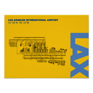 Poster del diagrama del aeropuerto de Los Ángeles Póster
