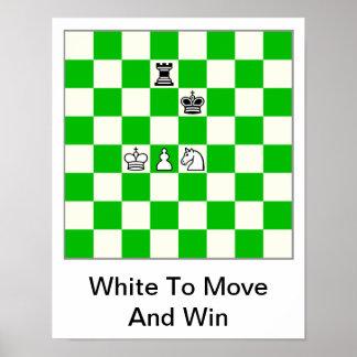 Poster del diagrama del ajedrez