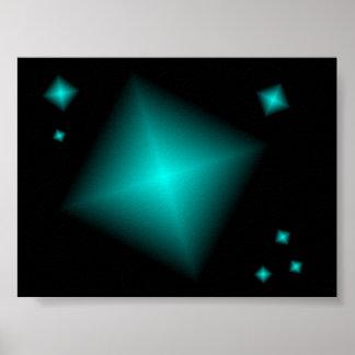 Poster del diamante del diseño gráfico