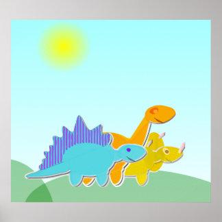 Poster del dibujo animado de los dinosaurios