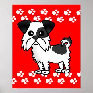 Poster del dibujo animado de Shih Tzu