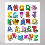 poster del dibujo animado del alfabeto A PARTIR
