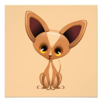 Poster del dibujo animado del perro de perrito de  impresiones fotograficas