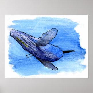 poster del dibujo de la ballena jorobada