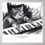 poster del dibujo del gato del teclado