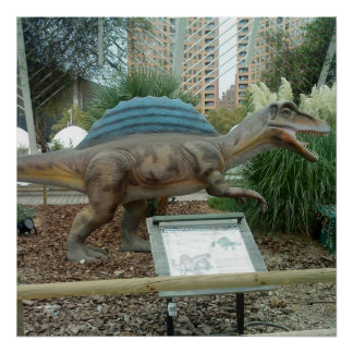 Poster del dinosaurio de Spinosaurus