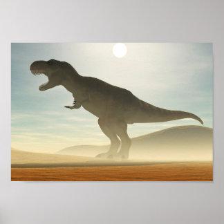 Poster del dinosaurio del rugido