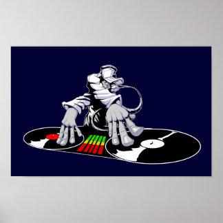 Poster del disc jockey