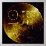 Poster del disco de oro del viajero