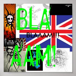 Poster del diseño de Blam Póster